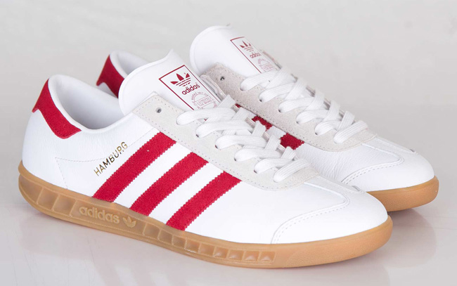 red and white adidas